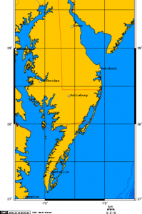 Map of DelMarVa Peninsula