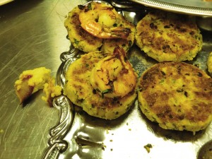 Seared Gulf Shrimp with Roasted Corn Cakes