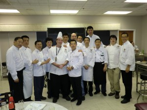 Picture with guest chef, Justin Timineri