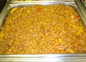 BBQ Baked Beans with Peaches
