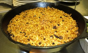Roasted Apple Crisp with Granola Topping