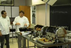 Chef Dale Hawkins giving an overview of the meal.