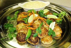 Chili-Lime Crab Cakes with Chipotle-Avacado Mayonnaise