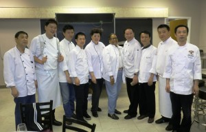 Group photo with guest chef.