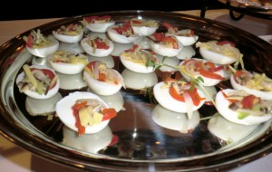 Stuffed Egg with Vegetables (1st stand-bottom plate)